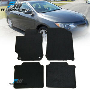 Fits 12 17 Toyota Camry Sedan Front Rear Floor Mats Carpet Black Nylon 4pc Set