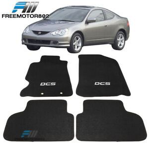 Fits 02 06 Acura Rsx Dc5 Logo 2dr Front Rear Floor Mats Carpet Nylon Black 4pc