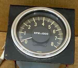 Vintage Stewart Warner Tachometer Rpm 8000 824869 Hot Rod Rat Rod