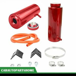 Radiator Coolant Aluminum Catch Tank Overflow Reservoir 800ml Universal Red
