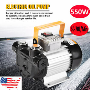 110v 550w Commercial Electric Oil Pump Self Priming Transfer Fuel Diesel Actp60