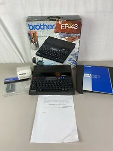 Brother Ep 43 Portable Personal Typewriter Word Processor W Box Manual Tested