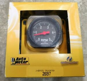 Autometer 2697 Z Series Air Core In Dash Tach 5k Rpm 2 1 16 Inch
