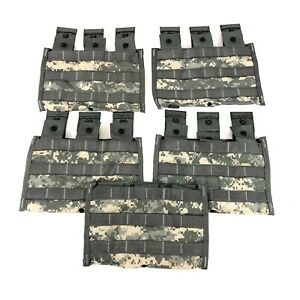 5 ACU Triple Magazine Pouch MOLLE Military Tactical Camo Mag Pouches USGI Army $21.99