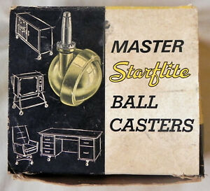 3 Master starflite Ball Casters 0 25wh Bright Brass Cast Metal Exc
