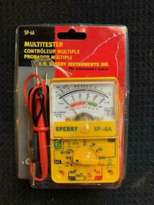 A w Sperry Instruments Multitester Sp 6a New Open Pack Has Instructions Exc