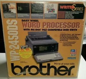 Vintage Brother Wp 2450 Ds Portable Word Processor Typewriter With Original Box