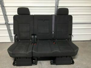 2007 2020 Suburban Escalade Esv Yukon Xl 2nd Second Row Black Bench Seat