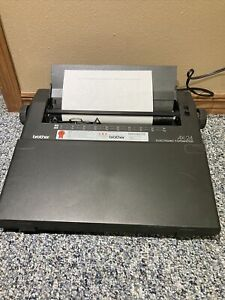 Brother Self Correcting Electronic Typewriter Ax 24 With Cover Tested Working
