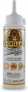 Gorilla Clear Glue 5 75 Ounce Bottle For Wood Stone Metal Ceramic Clear