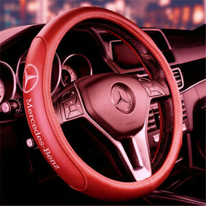 15 Car Steering Wheel Cover Genuine Leather For Mercedes Benz Brown