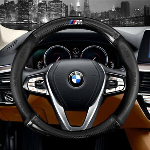 15 Car Steering Wheel Cover Genuine Leather For Bmw Black New