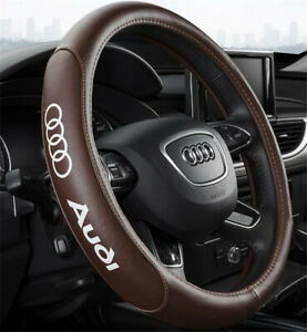 15 Car Steering Wheel Cover Genuine Leather For Audi Fashion