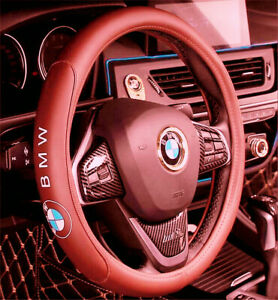15 Car Steering Wheel Cover Genuine Leather For Bmw Brown