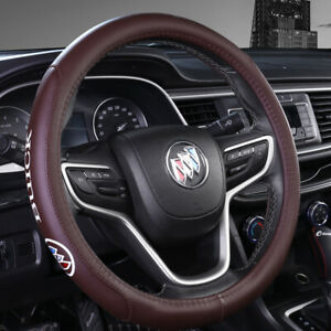 15 Car Steering Wheel Cover Genuine Leather For Buick Brown
