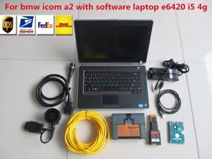 Bmw Icom A2 Laptop Dell E642 Software 500gb Hdd With Full Cable 2019 Version