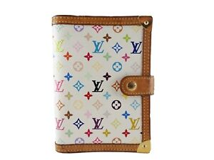Authentic Louis Vuitton Multocolor Agenda Pm Day Planner Cover Diary R20896