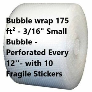 3 16 Small Bubble Cushioning Wrap Padding Roll 350 X 12 Wide 350ft