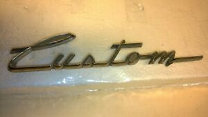 Chevrolet Gm Custom Script Emblem 3458082