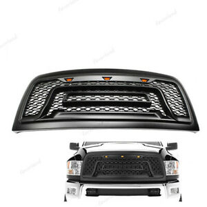 Fit For Dodge Ram 2500 3500 2010 2018 New Front Bumper Grill Grille W led Black