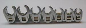 Snap On 3 8 Drive 7pc Sae Flare Nut Crowsfoot Wrench Set 3 8 3 4 207sfrh