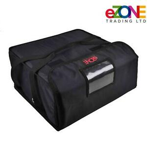 Heavy Duty Pizza Delivery Bag 4x16 Box Fully Insulated Waterproof Takeaway Blk