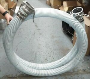 4 X 15 Clear Pvc Water Suction Hose Assembly With 4 Female Camlock Fittings