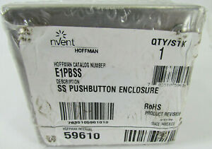 59610 Hoffman E1pbss Ss Pushbutton Enclosure Stainless Steel
