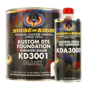 House Of Kolor Kd3001 G01 Kustom Dts Foundation Black Surfacer Sealer Gallon Kit