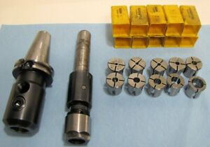 Erickson Collet Tap Chuck Set Cat 40 End Mill Holder 10 Collets Included Used