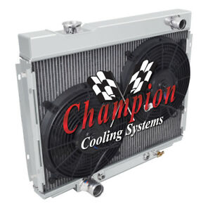 4 Row Rn Champion Radiator W 2 12 Fans For 1967 1970 Ford Mustang V8 Engine