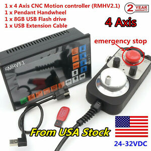 usa 4 Axis Offline Motion Controller 500khz Cnc Stand alone Control System mpg