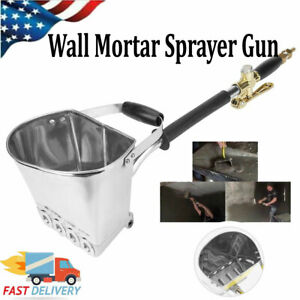 4 Jet Cement Mortar Concrete Air Stucco Sprayer Wall Plastering Gun Tools