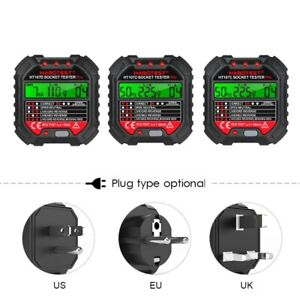 Electric Outlet Tester Power Socket Wall Plug Voltage Wire Testing Us eu uk Plug