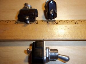 3 Pieces Carling Spst Toggle Switch 6a 125v