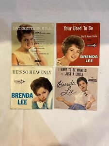 Brenda Lee 45 Picture Sleeves amp; Records Lot Of 7 $25.00