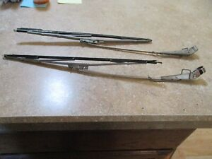 Pair Of Chrome 1950 Ford Coupe Shoebox Windshield Wipers Arms Used