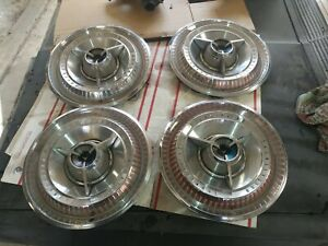 1965 Ford Thunderbird Special Landau 15 Inch Deluxe Spinner Hubcaps emberglow