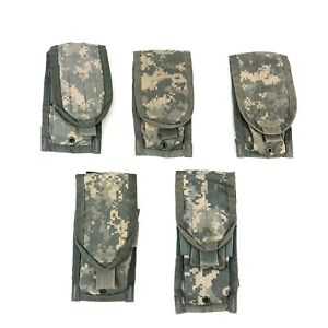 5 ACU Double Mag Pouch Army MOLLE II Camo USGI Military Pouches 2 Magazine $14.99