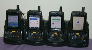 Lot Of 4 Motorola Mc75a8 Scanners W symbol Crd7000 4000e Charger Good Condition