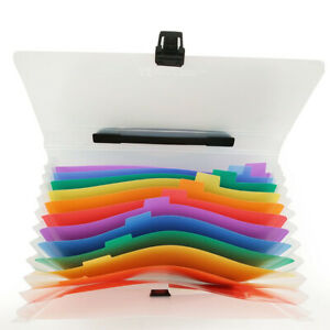 A4 File Organizer Document Holder Expanding Accordion Folders 13 Pockets For Kid