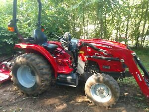 Massey Ferguson Tractor 1726 E With Loader And Five Attachments