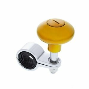 Electric Yellow Steering Wheel Spinner Heavy Duty Car Truck Handle Suicide Knob