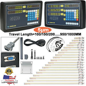 Linear Scale 2 3axis Digital Readout Dro Display Glass Sensor Bridgeport Mill