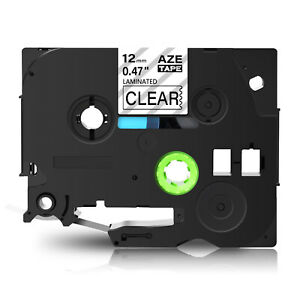 Black On Clear Label Tape 1 2 X 26 Compatible For Brother Tz 131 Tze 131 Tz131