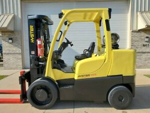 2008 Hyster S155ft Lpg 3 Stage Mast Cushion Tires Forklift Forktruck Yale