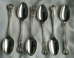 Victorian Set Of Silver Tea Spoons Kings Pattern Francis Higgins Ii London 1876
