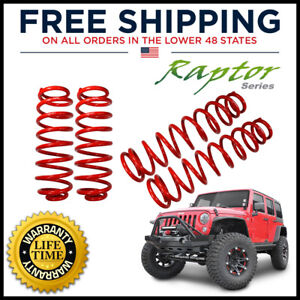 Raptor Coil Springs 2 5in Lift Kits Front And Rear For Jeep Wrangler Jk 4 Door