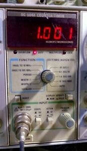 Tektronix Plug In Tm 500 Dc504a Frequency Counter Timer Tested Working B013331