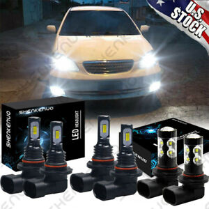 For Toyota Corolla 2005 2006 2007 2008 Led Headlight High Low Fog Light Bulb Kit